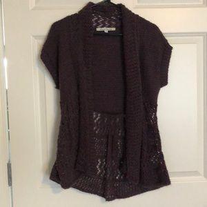 Short sleeve sweater cardigan